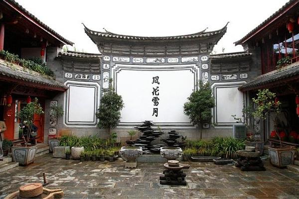 云南白族影壁