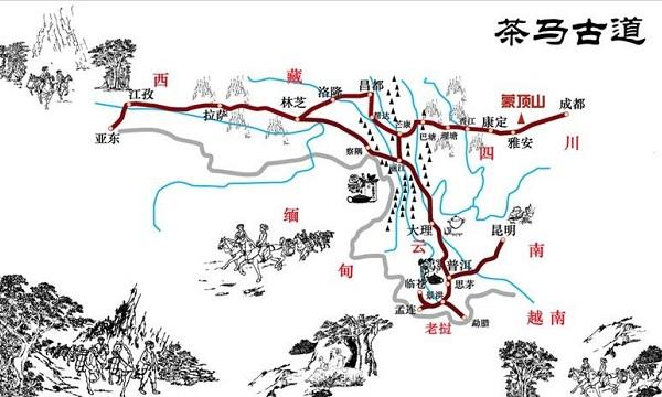 茶马古道路线图