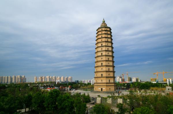 陕西古建筑崇文塔——中国最高砖塔